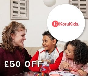 £50 off – KoruKids A multi-award winning childcare service, providing part-time, vetted and trained London nannies.