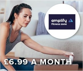 Amplify online gym membership for £6.99 per month.