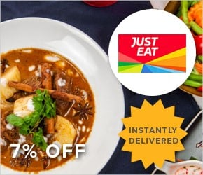 7% off – Just Eat