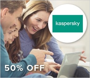 Save 50% with the award-winning Kaspersky Total Security for £24.99.