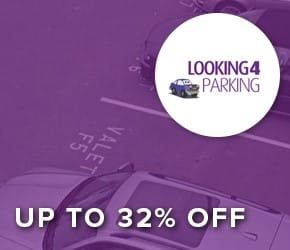 Up to 32% off – Looking4Parking who offer a comparison on airport parking at every major UK airport.