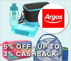 5% off+ up to 3% cashback with ARGOS