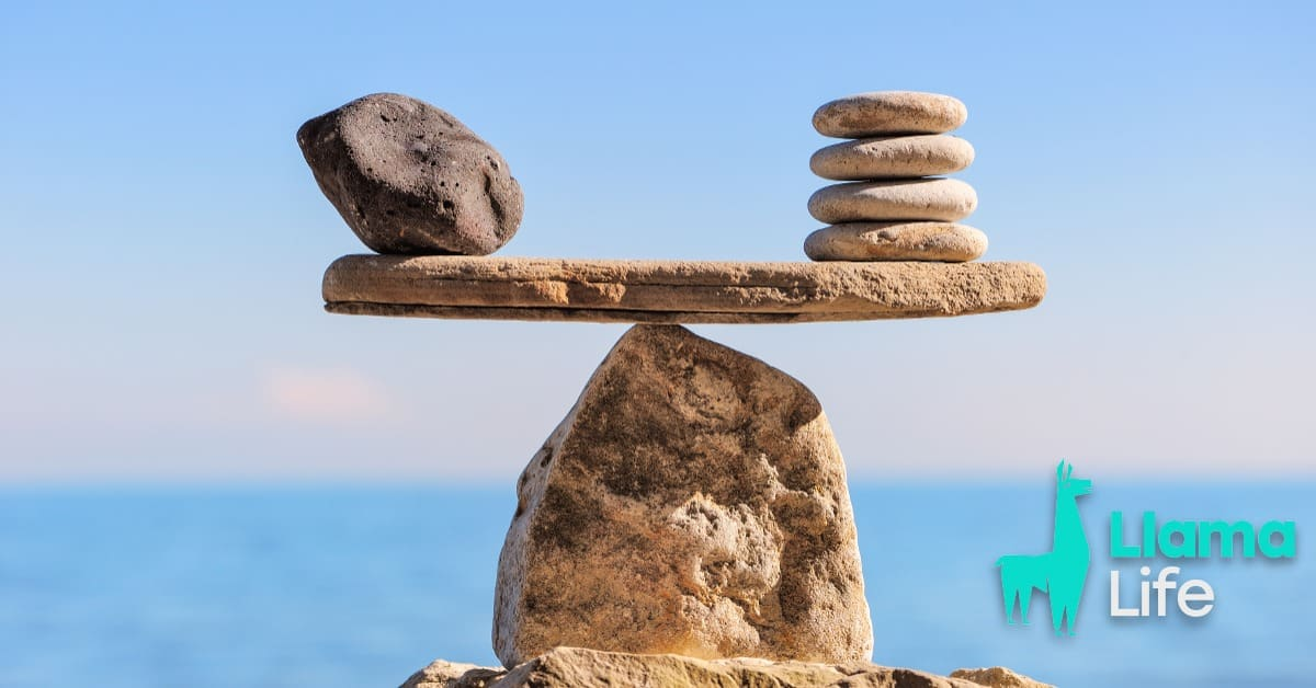 Savings Vs Value rock on beach balancing other rocks