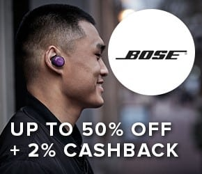 Up to 50% off + 2% cashback with BOSE