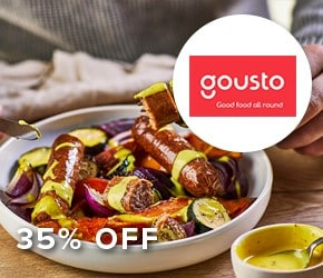 35% off Gousto Recipe Boxes