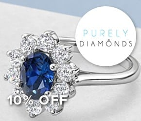 64% off RRP plus an extra 10% OFF Purely Diamonds