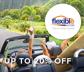 Up to 20% off + free driver Flexible Autos